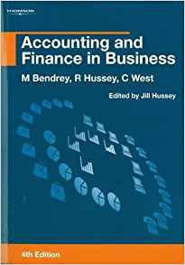 Accounting and Finance in Business by Roger Hussey 0826454119